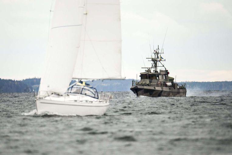 Zweedse marineschepen patrouilleren de kustwateren. Beeld afp