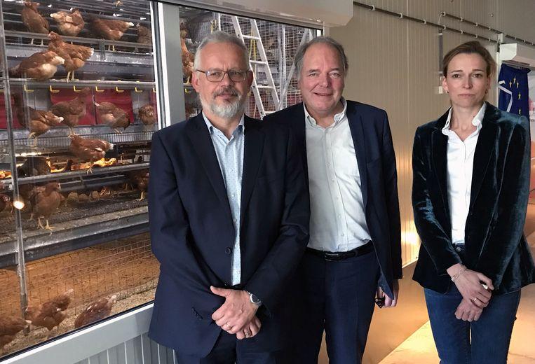 Johan Zoons, Ludwig Caluwé en Nathalie Sleeckx van provincie Antwerpen.