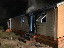 Wederom brand op camping in Kerkdriel, forse schade aan chalet