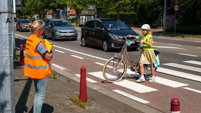 Leerlingen leggen fietsexamen af