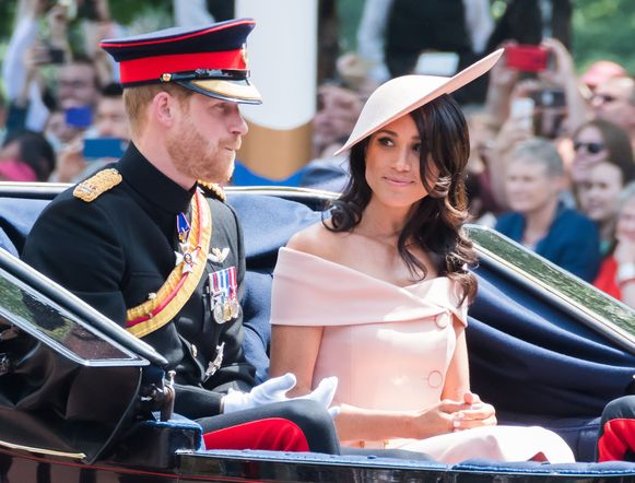 Meghan Markle bij de Trooping the Colour-parade