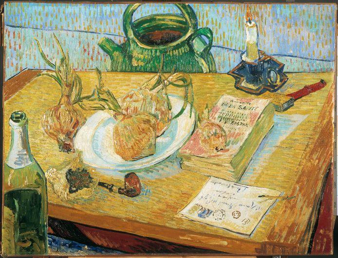 Vincent van Gogh, Stilleven rond een bord met uien.