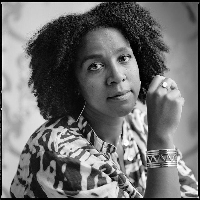 Simone Atangana Bekono, schrijfster van 'Confrontaties'.