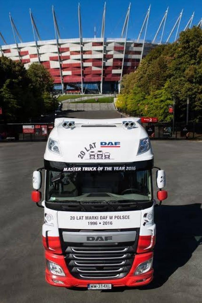 De DAF XF 460 FT Super Space Cab is truck van het jaar in Polen.