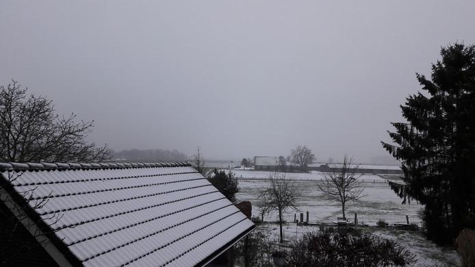 Ook het Duitse Wijler, uitkijkend op Groesbeek, is wit
