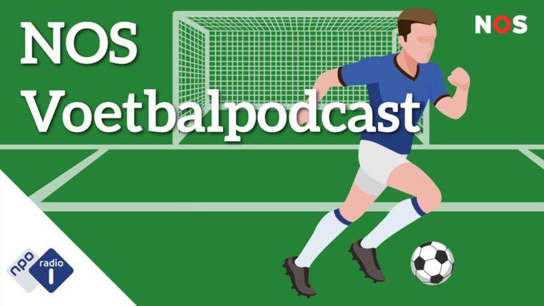De NOS Voetbalpodcast bestaat sinds dit seizoen. Beeld Geen