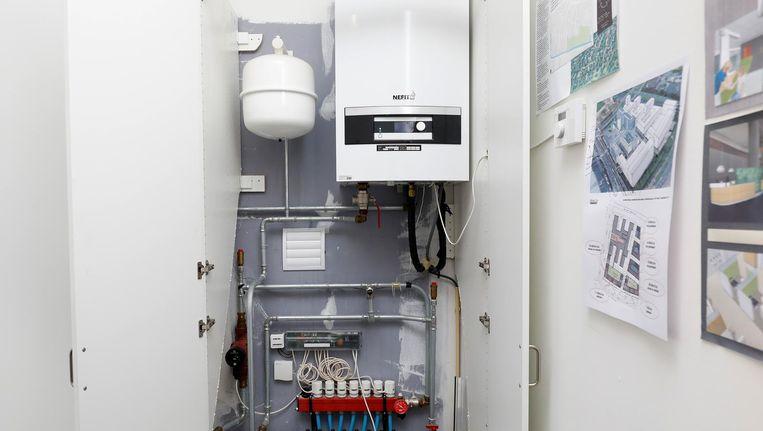 Een warmtepomp, een mogelijke plaatsvervanger van de cv-ketel. Beeld anp