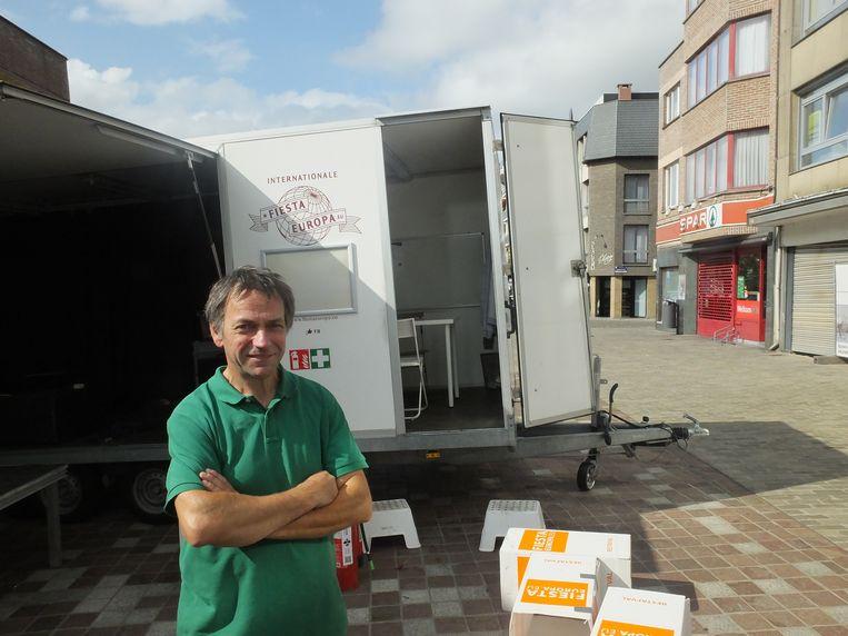 Roeland Storms is klaar om de Markt van Deinze te veroveren met Fiesta Europa.