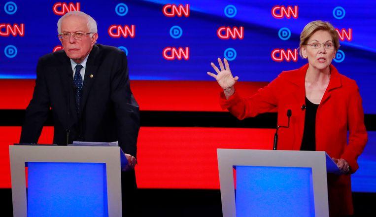 Bernie Sanders en Elizabeth Warren.