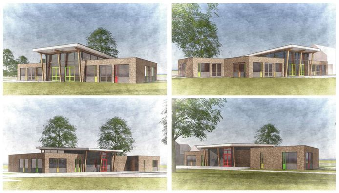 Een impressie van de nieuwe basisschool in Giessen Oudekerk.