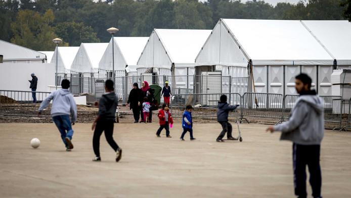 Vluchtelingen op het kamp in Nijmegen