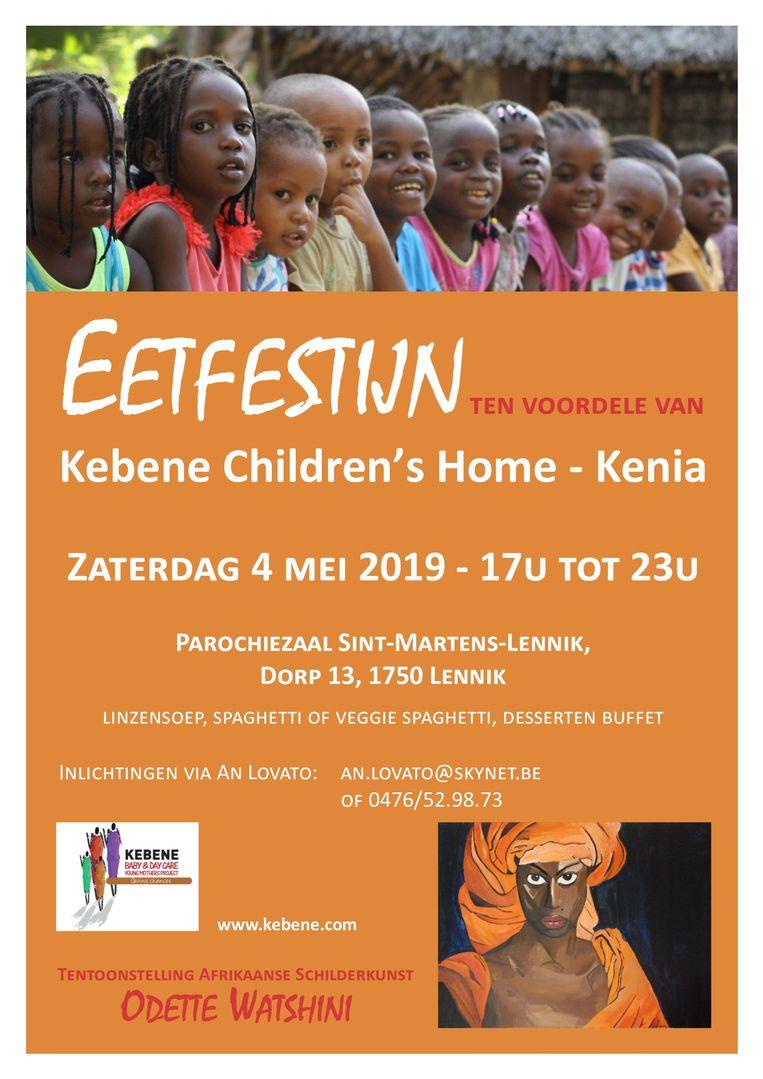 Vier Lennikse vrijwilligers organiseren op zaterdag 4 mei een eetfestijn ten voordele van Kebene Children's Home.