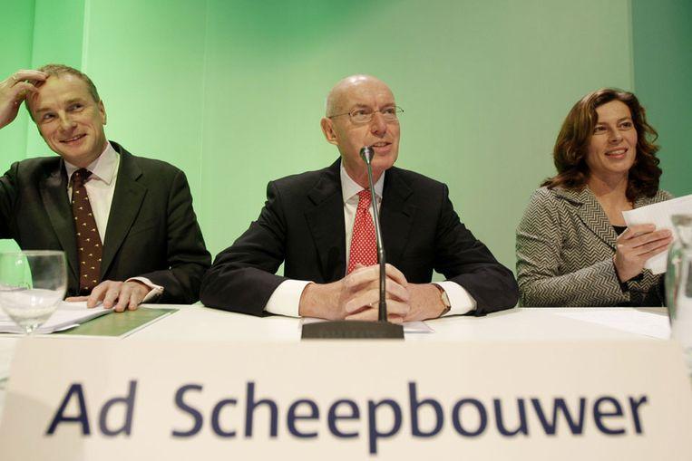 Ad Scheepbouwer tijdens de bekendmaking van de jaarcijfers van KPN dinsdag (ANP) Beeld
