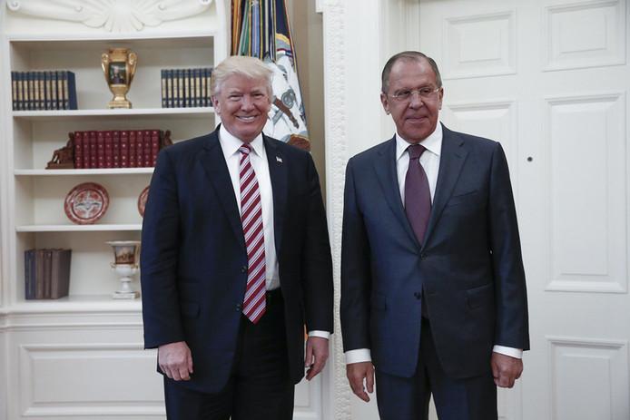 Donald Trump et Sergei Lavrov à la Maison blanche le 15 mai 2017.