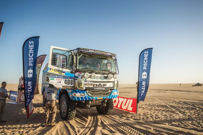 Archiefbeeld van de truck van Hoondert Rally Team.