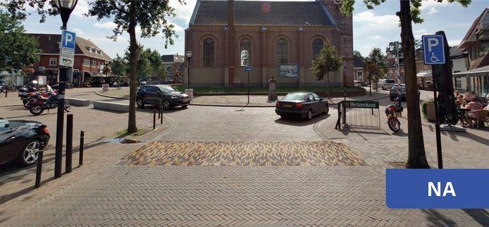 Zo moet de oversteekplaats eruit zien bij de Nicolaaskerk in Heino.