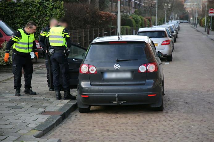 Op de Boslaan in Den Haag is de Poolse automobilist uiteindelijk aangehouden.