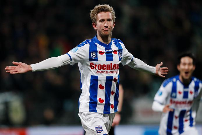 Michel Vlap blonk weer eens uit bij Heerenveen.