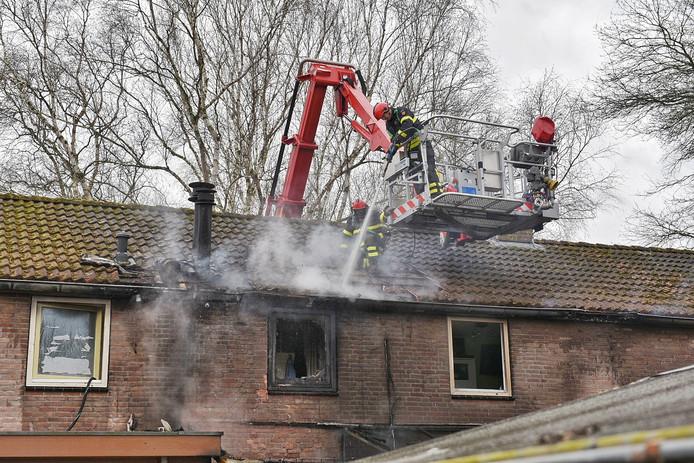 Brand aan Rooseveltplein in Tilburg.