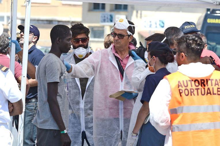 Een overlever wordt geïdentificeerd door de Italiaanse politie.