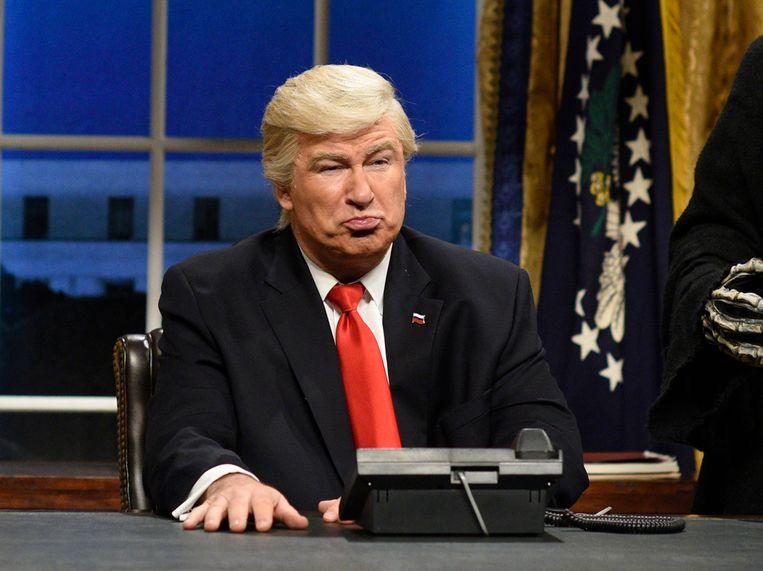 Baldwin als president Trump in een eerdere sketch.