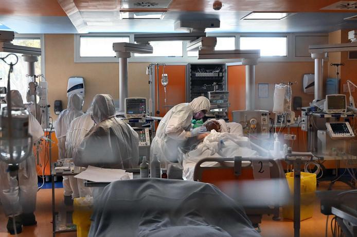 Département des soins intensifs à l'hôpital Casal Palocco, à Rome