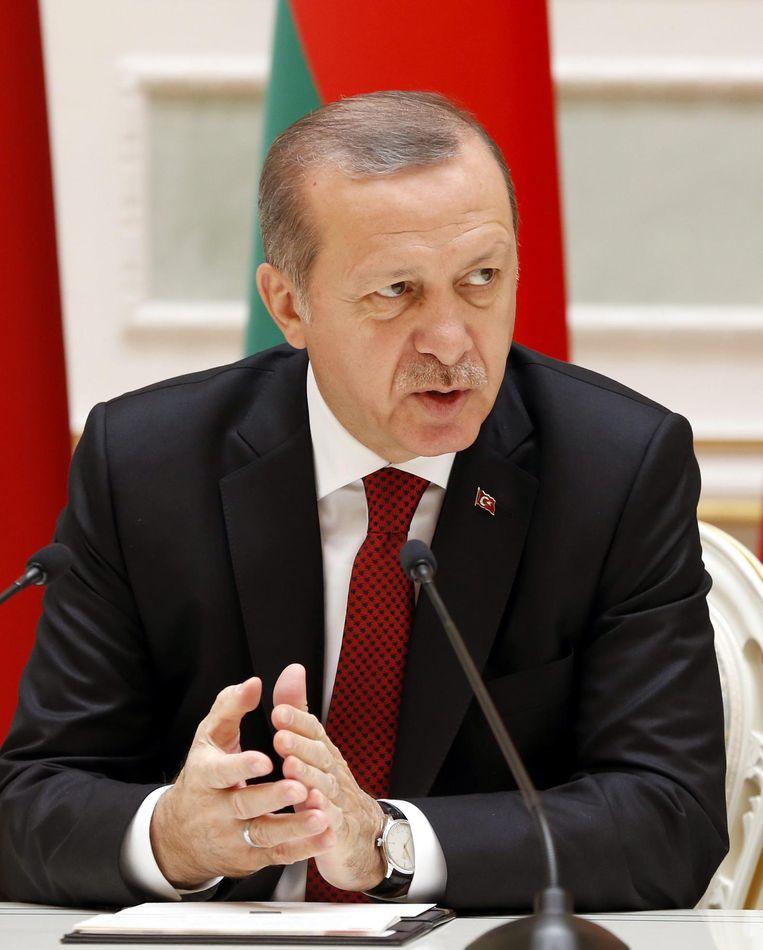 President Erdogan wordt in het zonnetje gezet bij Arte. Beeld epa