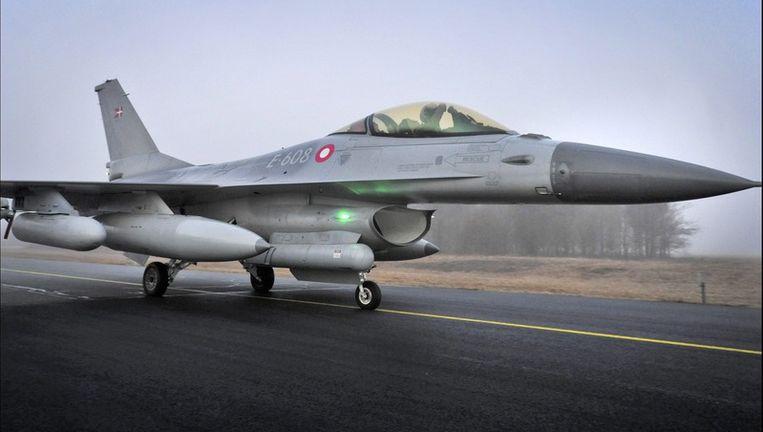 Een (Deense) F16. Beeld epa