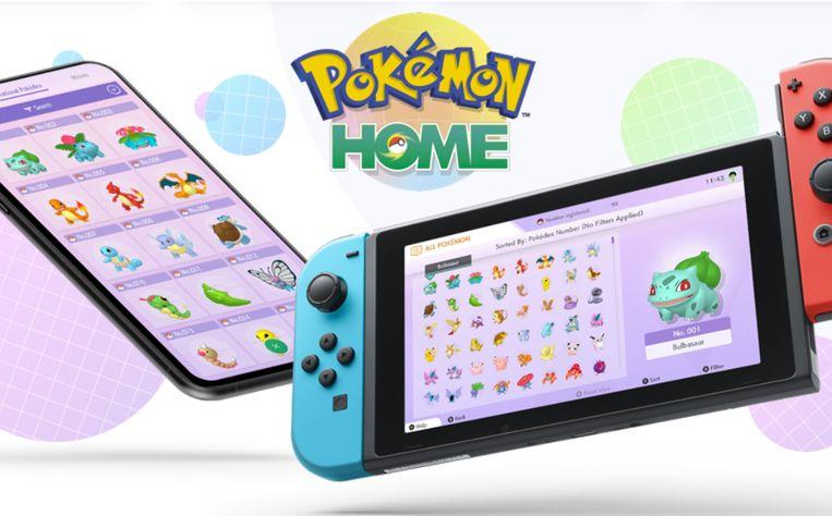 Pokémon Home op de smartphone en Nintendo Switch