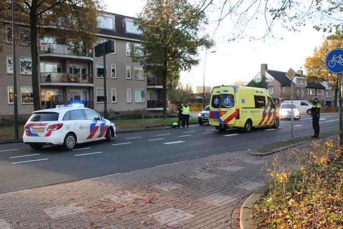 Hulpdiensten op de plek van het ongeluk in Nijverdal.