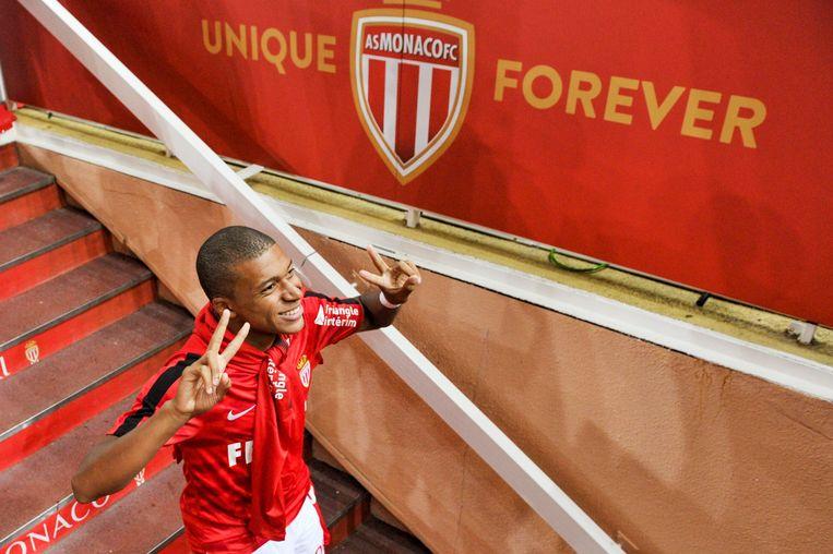 Mbappé kort voor zijn afscheid bij AS Monaco.