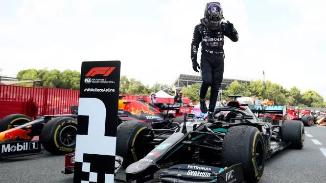 Lewis Hamilton knoopt terug aan met zege na simpele overwinning in Spanje, Verstappen tweede