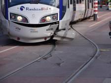 Tram ontspoord in Leidschendam