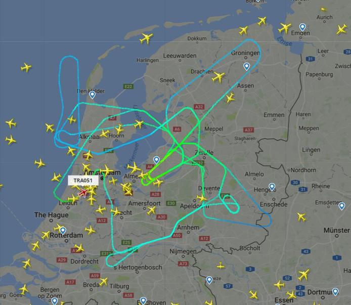 De Boeing is op zijn eindbestemming gearriveerd.