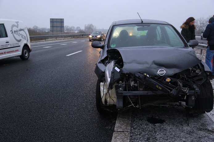 Rond 16.30 uur gebeurde er een aanrijding op de A67 bij Deurne.