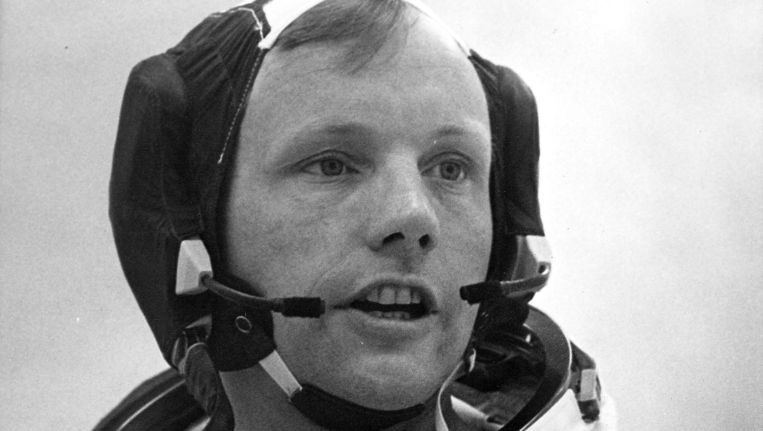 Neil Armstrong in 1969 Beeld AFP