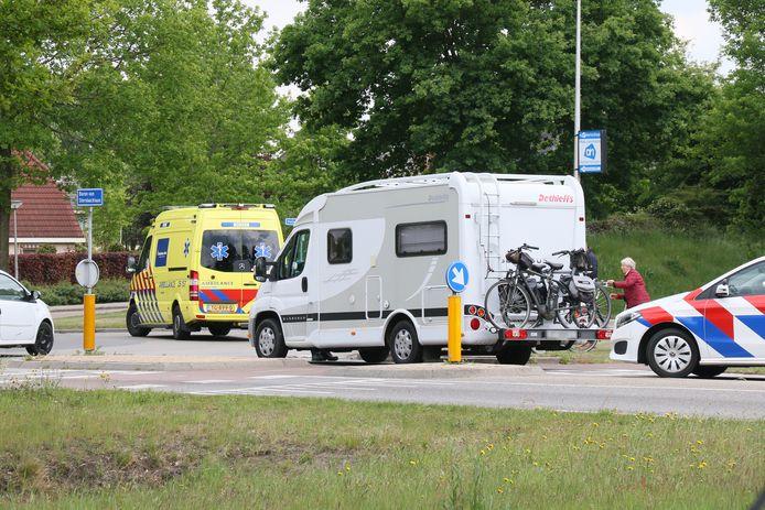 Het ongeluk gebeurde bij de oversteekplaats.