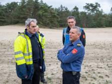 Blushelikopters helpen bij bosbrandbestrijding Landgoed Junne: het is maar een oefening