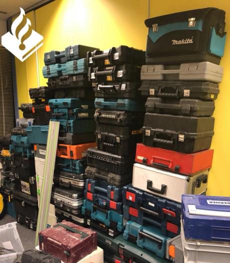 Veel reacties op grote vondst gestolen gereedschap