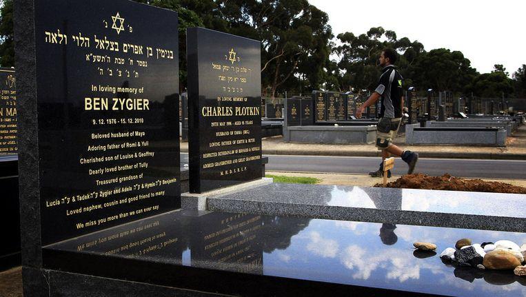 De begraafplaats van Ben Zygier. Beeld reuters
