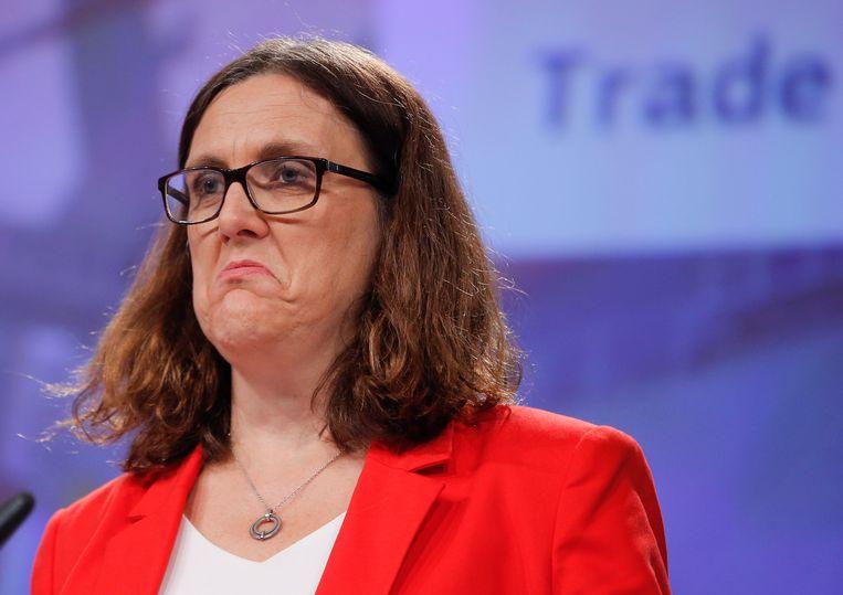 Cecilia Malmström, de eurocommissaris voor Handel.