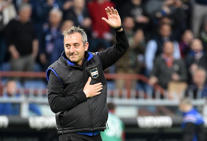 Marco Giampaolo leek bij de laatste competitiewedstrijd al afscheid te nemen.