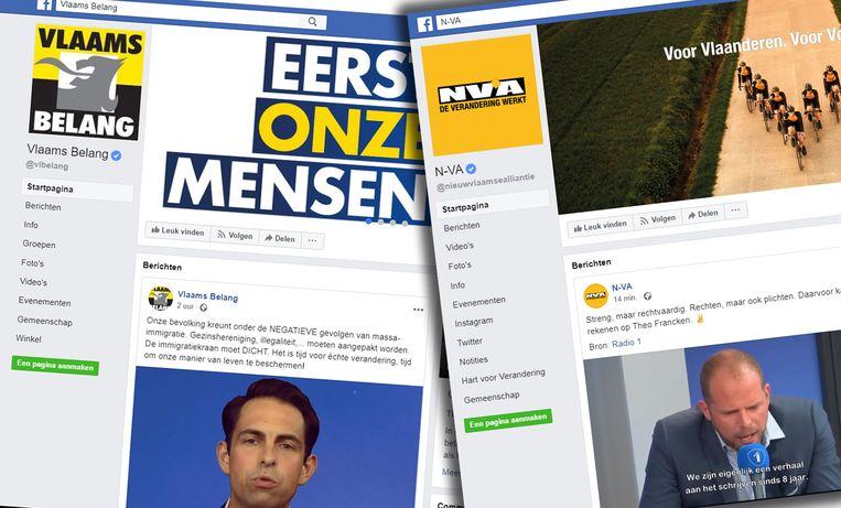 Vlaams Belang heeft bijna 400.000 volgers op Facebook, N-VA bijna 200.000.