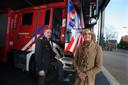 Diemer Kransen (directeur) en Annette Bronsvoort (bestuursvoorzitter) vormen de leiding van de brandweer op de Veluwe en in de Achterhoek.