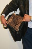 Voorbeeld van een geprepareerde tas.