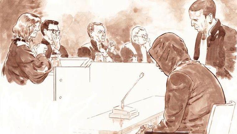 Flip S. in de rechtszaal tijdens de pro-formazitting vorig jaar. Beeld anp