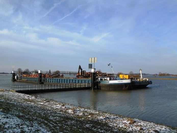 De schip vanmorgen in Zwolle. Foto: Yang Yang Chiu