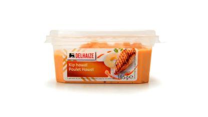 Verkeerd etiket op kip hawaï salade van Delhaize