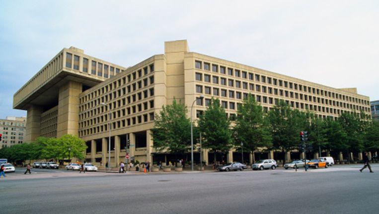 Het gebouw van de FBI in Washingtong