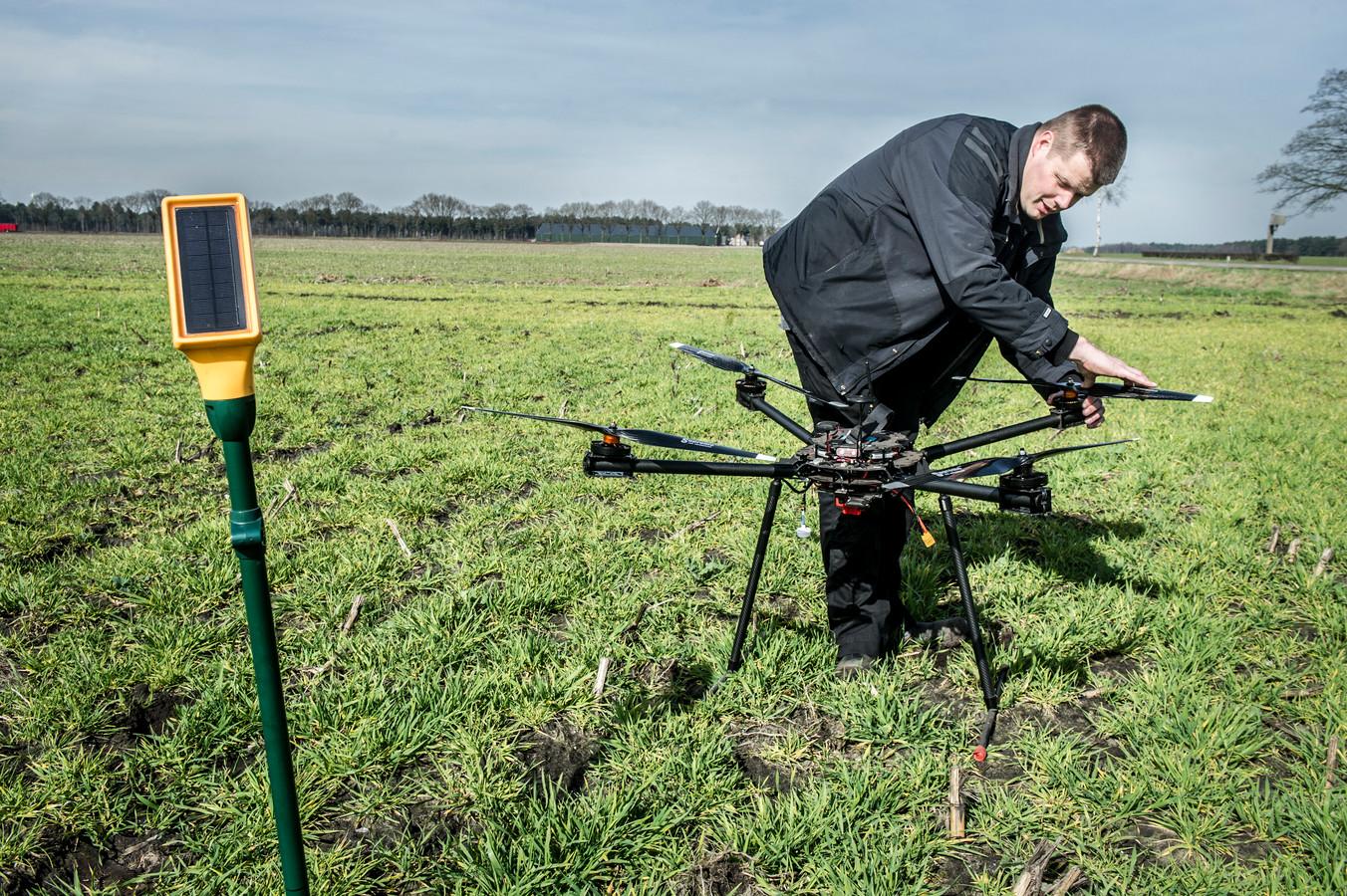 Jacob van den Borne gebruikt drones voor precisielandbouw.
